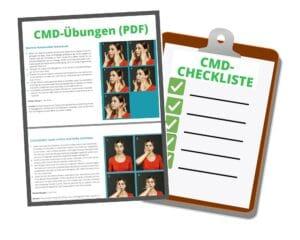 CMD-Übungen plus Checkliste entspannter Kiefer (PDF)